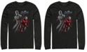 Marvel Men's Avengers Endgame Iron Man Captain America Split, Long Sleeve T-shirt