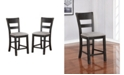 Furniture of America Avaleon Slat Back Counter Chair (Set of 2)
