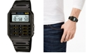 Casio Unisex Digital Calculator Black Resin Strap Watch 35mm
