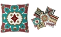 """Mod Lifestyles Southwest Collection Kilim Embroidery Pillow, 20"""" X 20"""""""