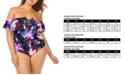 Raisins Curve Trendy Plus Size Juniors' Lagide Printed Cubana One-Piece Swimsuit