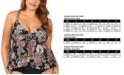 Raisins Curve Trendy Plus Size Juniors' Wild Romance Printed Atlantic Tankini Top