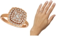 Le Vian Nude Diamond Cluster Statement Ring (7/8 ct. t.w.) in 14k Rose Gold