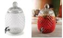 Circle Glass Aberdeen Pineapple Shaped Dispenser, 2.1 Gal