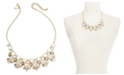 "INC International Concepts INC Gold-Tone Stone & Glass Multi-Cluster Statement Necklace, 18"" + 3"" extender, Created for Macy's"