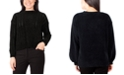 NY Collection Pointelle-Knit Sweater