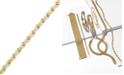 Macy's 10k Gold and White Gold Bracelet, Two-Tone X Bracelet