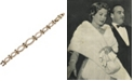 Grace Kelly Collection 18k Gold Plated Oval Bracelet