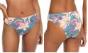Roxy Juniors' Floral-Print High-Leg Bikini Bottoms