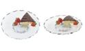 """Badash Crystal Hand Painted Chiseled Edge 13"""" Turning Platter"""
