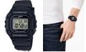 Casio Men's Digital Classic Black Resin Strap Watch 43.2mm