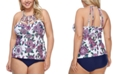 Raisins Curve Trendy Plus Size Wild Romance Boa Tankini Top & Costa High-Waist Bikini Bottoms