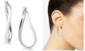 "Giani Bernini Large Sterling Silver Wave Hoop Earrings, 1.5"""