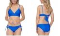 Raisins Juniors' Cali Solids Anya Bikini Top & Side-Tie Bikini Bottoms