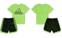 adidas Baby Boys 2-Pc. Printed T-Shirt & Mesh Shorts Set