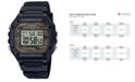 Casio Men's Digital Black Resin Strap Watch 43.2mmx43.2mm