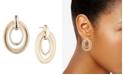Lauren Ralph Lauren Gold-Tone Textured Oval Link Orbital Drop Earrings