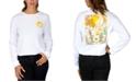 Rebellious One Juniors' Cotton Celestial Back Graphic Top