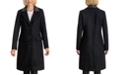 BCBGeneration Faux-Leather-Collar Walker Coat