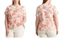 Lauren Ralph Lauren Plus Size Tie-Dye Short Sleeve Top