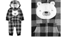 Carter's Carters Baby Boy Buffalo Check Fleece Jumpsuit