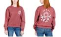Rebellious One Juniors' Celestial Floral Graphic Sweatshirt