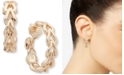 """Anne Klein Gold-Tone Link Medium Hoop Clip-On Earrings, 1"""""""