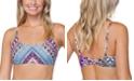 Raisins Juniors' Wild About You Printed Twist-Back Bikini Top, Created for Macy's