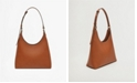 MANGO Women's Multi-Position Leather Shoulder Bag