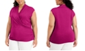 INC International Concepts INC Plus Size Surplice Top, Created for Macy's