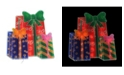 """Northlight 17"""" Double-Sided Lighted Holographic Shimmering Christmas Presents Window Silhouette"""
