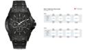 Bulova Men's Black Ion-Plated Stainless Steel Bracelet Watch 43mm 98C121