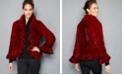 The Fur Vault Ruffle-Edge Knitted Mink Fur Jacket