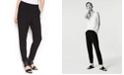 Eileen Fisher Stretch Jersey Pull-On Slouchy Ankle Pants,Regular & Petite Sizes