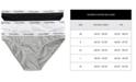 Calvin Klein Women's Carousel Cotton 3-Pack Bikini Underwear QD3588