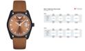 Emporio Armani Men's Tazio Cognac Leather Strap Watch 43mm AR6080