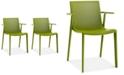 Furniture Beekat Set of 2 Indoor/Outdoor Armchairs