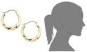Macy's 10k Gold Small Polished Swirl Hoop Earrings