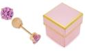 Macy's Children's Cubic Zirconia October Birthday Reversible Earrings in 14k Gold