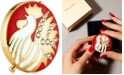 """Estee Lauder Gold-Tone """"Year of the Rooster"""" Compact"""