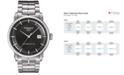 Tissot Men's Swiss Automatic T-Classic Luxury Powermatic 80 Stainless Steel Bracelet Watch 41mm T0864071106100