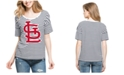 '47 Brand Women's St. Louis Cardinals Coed Stripe T-Shirt
