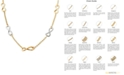 Italian Gold Two-Tone Infinity Link Collar Necklace in 14k Gold & White Gold