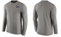 Nike Men's Washington Huskies Dri-Fit Touch Longsleeve T-Shirt