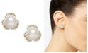 Charter Club Imitation Pearl & Pavé Stud Earrings, Created for Macy's