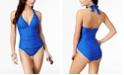 Lauren Ralph Lauren Tummy Control Halter One-Piece Swimsuit