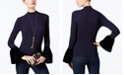 INC International Concepts I.N.C. Petite Velvet Bell-Sleeve Top, Created for Macy's