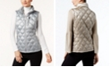 Calvin Klein Metallic Quilted Puffer Vest, Created for Macy's