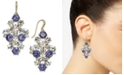 Charter Club Gold-Tone Purple & Clear Crystal Drop Earrings, Created for Macy's