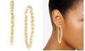INC International Concepts I.N.C. Gold-Tone Textured Braided Hoop Earrings, Created for Macy's